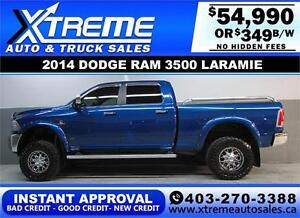 2014 DODGE RAM 3500 DIESEL LIFTED *INSTANT APPROVAL* $349/BW