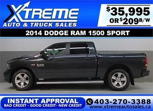2014 DODGE RAM SPORT CREW *INSTANT APPROVAL* $0 DOWN $209/BW!