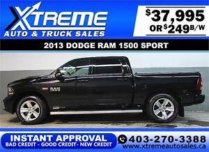 2013 DODGE RAM SPORT CREW **INSTANT APPROVAL** $0 DOWN $249/BW!