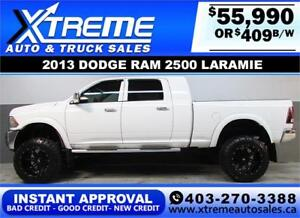 2013 DIESEL MEGA CAB LIFTED *INSTANT APPROVAL $0 DOWN $409/BW