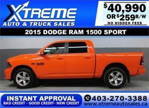 2015 DODGE RAM SPORT CREW *INSTANT APPROVAL* $0 DOWN $259/BW!
