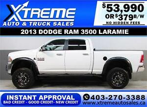 2013 DODGE RAM DIESEL LIFTED *INSTANT APPROVAL* $379/BW