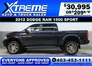 2012 DODGE RAM 1500 LIFTED *EVERYONE APPROVED* $0 DOWN $209/BW!