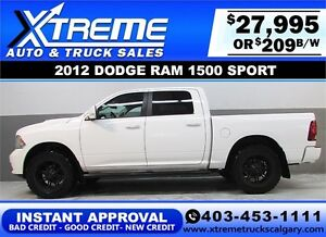 2012 DODGE RAM SPORT CREW *INSTANT APPROVAL* $0 DOWN $189/BW!