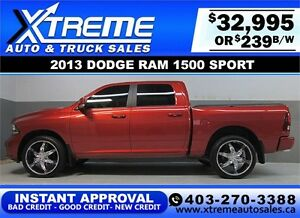 2013 DODGE RAM SPORT CREW *INSTANT APPROVAL* $0 DOWN $239/BW