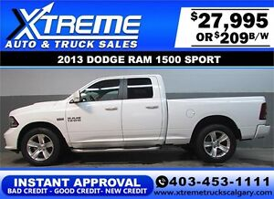 2013 DODGE RAM SPORT CREW *INSTANT APPROVAL* $0 DOWN $209/BW!