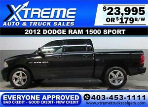 2012 DODGE RAM SPORT CREW *EVERYONE APPROVED* $0 DOWN $179/BW