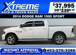 2014 DODGE RAM SPORT CREW *INSTANT APPROVAL* $0 DOWN $239/BW!