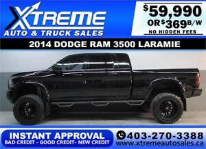 2014 RAM 3500 DIESEL LIFTED *INSTANT APPROVAL $0 DOWN $369/BW!