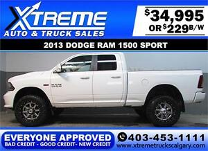 2013 DODGE RAM SPORT LIFTED *EVERYONE APPROVED* $0 DOWN $229/BW!