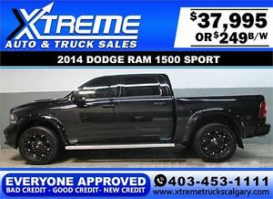 2014 DODGE RAM SPORT CREW **EVERYONE APPROVED** $0 DOWN $249/BW