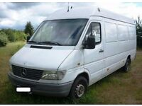 Left hand drive Mercedes sprinter LWB 308D