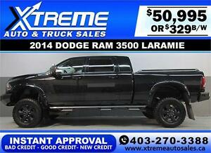2014 DODGE RAM LARAMIE LIFTED INSTANT APPROVAL* $0 DOWN $329/BW!