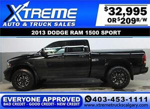 2013 DODGE RAM SPORT LIFTED *EVERYONE APPROVED* $0 DOWN $209/BW