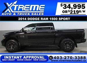 2014 DODGE RAM SPORT LIFTED *INSTANT APPROVAL* $0 DOWN $219/BW!