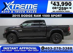 2015 DODGE RAM SPORT LIFTED *INSTANT APPROVAL* $0 DOWN $259/BW