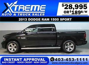 2013 DODGE RAM SPORT CREW *INSTANT APPROVAL* $0 DOWN $189/BW