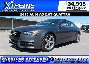 2013 Audi A5 S-LINE QUATTRO $219 bi-weekly APPLY NOW DRIVE NOW