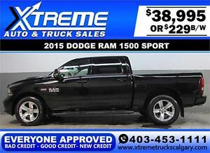 2015 DODGE RAM SPORT CREW *EVERYONE APPROVED* $0 DOWN $229/BW