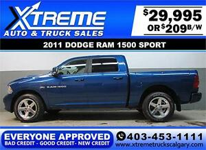 2011 DODGE RAM SPORT CREW *EVERYONE APPROVED* $0 DOWN $209/BW