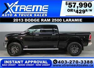 2013 RAM LARAMIE DIESEL LIFTED *INSTANT APPROVAL* $0 DOWN $429/