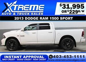 2013 DODGE RAM SPORT CREW *INTANT APPROVAL* $0 DOWN $229/BW!