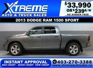 2013 DODGE RAM SPORT CREW *INSTANT APPROVAL* $0 DOWN $239/BW!