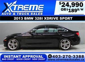 2013 BMW 328i XDRIVE SPORT $189 Bi-Weekly APPLY NOW DRIVE NOW