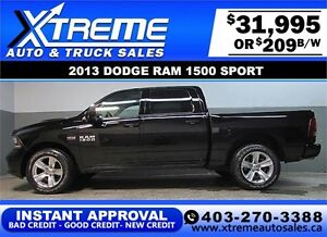 2013 DODGE RAM SPORT CREW **INSTANT APPROVAL** $0 DOWN $209/BW!