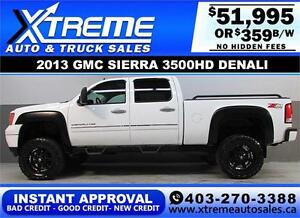 2013 GMC DENALI DIESEL LIFTED *INSTANT APPROVAL $0 DOWN $359/BW!