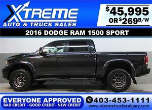 2016 DODGE RAM SPORT LIFTED *EVERYONE APPROVED* $0 DOWN $269/BW!