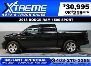 2013 DODGE RAM SPORT CREW *INSTANT APPROVAL* $0 DOWN $219/BW!