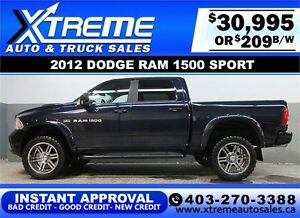 2012 DODGE RAM 1500 LIFTED *INSTANT APPROVAL* $0 DOWN $209/BW!