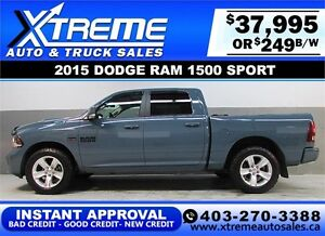 2015 DODGE RAM SPORT CREW *INSTANT APPROVAL* $0 DOWN $249/BW