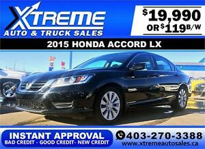 2015 Honda Accord $139 bi-weekly APPLY NOW DRIVE NOW