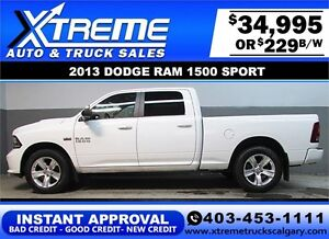 2013 DODGE RAM SPORT CREW **INSTANT APPROVAL** $0 DOWN $229/BW!
