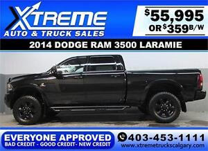 2014 RAM 3500 DIESEL LIFTED *EVERYONE APPROVED* $0 DOWN $359/BW