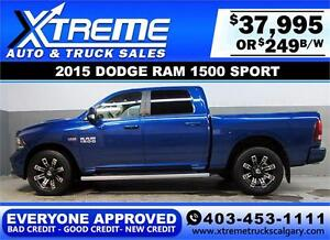 2015 DODGE RAM SPORT CREW *EVERYONE APPROVED* $0 DOWN $249/BW!