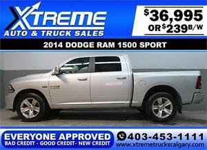 2014 DODGE RAM SPORT CREW **EVERYONE APPROVED** $0 DOWN $239/BW!