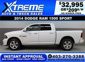 2014 DODGE RAM SPORT CREW *INSTANT APPROVAL* $0 DOWN $209/BW