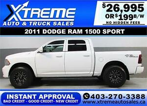 2011 DODGE RAM SPORT LIFTED *INSTANT APPROVAL* $0 DOWN $199/BW