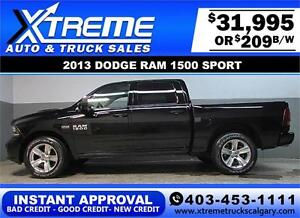 2013 DODGE RAM SPORT CREW **INSTANT APPROVAL** $0 DOWN $209/BW!