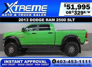 2013 RAM 2500 DIESEL LIFTED *INSTANT APPROVAL* $0 DOWN $329/BW