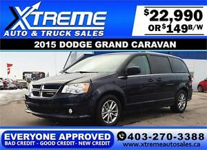 2015 Dodge Grand Caravan $149 bi-weekly APPLY NOW DRIVE NOW
