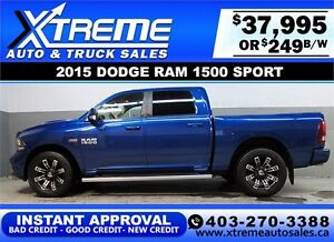 2015 DODGE RAM SPORT CREW *INSTANT APPROVAL* $0 DOWN $249/BW!
