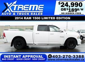 2014 RAM 1500 LIMITED EDITION *INSTANT APPROVAL* $189/BW!