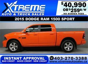 2015 DODGE RAM SPORT CREW *INSTANT APPROVAL* $0 DOWN $259/BW!