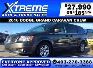 2016 Dodge Grand Caravan Crew $185 bi-weekly APPLY NOW DRIVE NOW