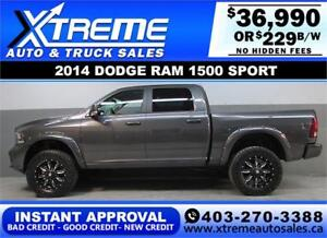 2014 DODGE RAM SPORT LIFTED *INSTANT APPROVAL* $0 DOWN $229/BW