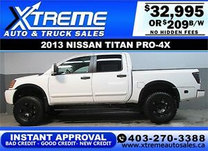 2012 NISSAN TITAN LIFTED *INSTANT APPROVAL* $0 DOWN $229/BW!